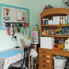 Office craftroom tour Contemporary Organized Craft Room Tour Tour Of Fabulous Craft Room With Tons Of Stamping Country My Craft Room Tour And Tons More Next Week The Country Chic Cottage