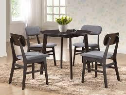 creative design century dining room tables com baxton studio debbie mid century round dining table dark
