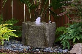 Cheap Water Fountain Ideas For Garden With Stone Material