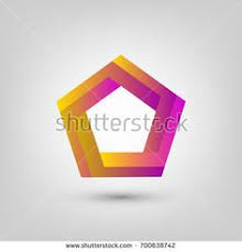 impossible penon impossible shape impossible object logo template vector ilration