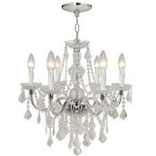 hampton bay chandelier sheldon collection light brushed nickel
