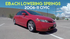 Eibach Lowering Springs Before/After Civic Si 2006-2011 - YouTube