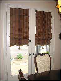 image of classic roman shades for french doors