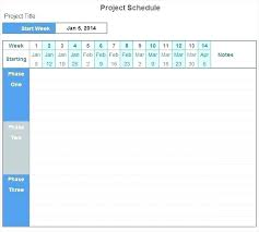 Example Of A Project Timeline Weekly Project Plan Template Management Timeline Example