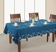 Amazon ShalinIndia Blue And White Floral Design Table Linen Set Magnificent Square Kitchen Designs Set
