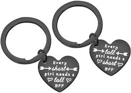 Get crafts, coloring pages, lessons, and more! Amazon Com Pliti Best Friends Keychain Friendship Gift Set Of 2 Bff Keyring Every Tall Girl Needs A Short Best Friend Sister Keychain From Sister Short Tall Heart Black Jewelry