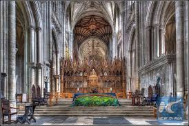a photo showing the interior of winchester cathedral in hampshire britain photo courtesy of winchester cathedral