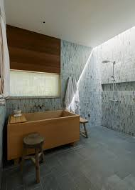 in the master bath hale chose slate tile for the floors and green and