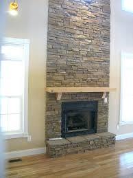 stacked stone veneer fireplace stone tile around