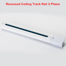 recessed track lighting systems. 1M Lighting Track Rail 3 Phase Circuit 4 Wires Aluminium Light System Recessed Ceiling Systems