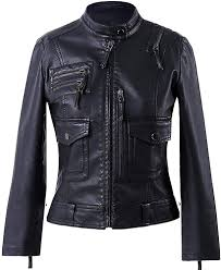 Designer Jackets Womens Vearfit Womens Strips Fashionable Black Biker Motorcycle