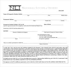 Letter Of Intent For University Inspiration 48 National Letter Of Intent Templates Sample Templates