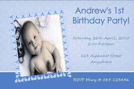 Personalised Birthday Invitations For Kids Personalised Birthday Photo Invitation Boy Design 1