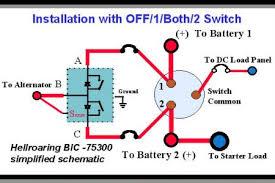 perko battery switch wiring diagram & perko battery switch wiring dual circuit plus battery switch at Two Battery Switch Wiring Diagram