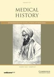 medical history bynum prize global health histories the  medical history front cover