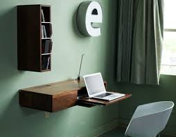 Fold down wall desk Bed Dornob Fold Down Slide Up Simple Wallmounted Wood Minidesk