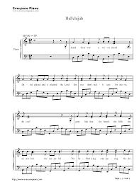 hallelujah piano sheet music free hallelujah jeff buckley sheet music preview 1 pinteres