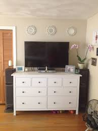 Inspiring Tv Stands For Bedroom Dressers Decor On Dining Room Decoration  Ikea Hemnes Dresser As Tv Stand Decorating The House Pinterest