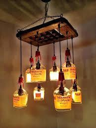 recycled bottle chandelier whiskey bottle chandelier makers mark driftwood 8 by kit whiskey bottle chandelier recycled glass bottle chandelier
