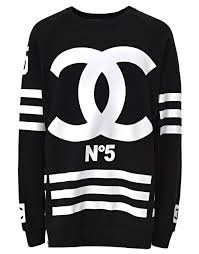 chanel sweatshirt. coco chanel hockey sweatshirt d