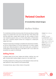 Wicked Clothes Size Chart Twisted Crochet Maffers Walker 20 Wonderfully Wicked Designs