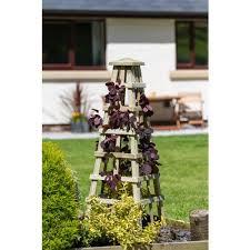 zest scafell wooden garden obelisk