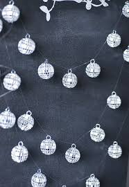 Mini Disco Ball Decorations another great idea from paper valisemini garland with disco ball 12