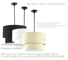 light 3 tier pendant lamp shade tiered