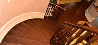 refaced stained oak staircase