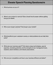 What Is A Elevator Speech Develop An Elevator Speech For Your Business Plan Dummies