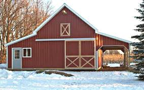 Small Barn Designs 41 Small Barn Designs Complete Pole Barn Construction Blueprints