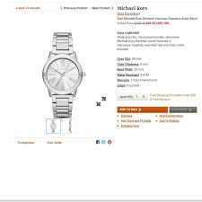 Michael Kors Watch Size Chart Michael Kors Womens Hartman Stainless St On Carousell
