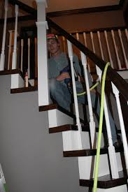 replace stair railing. Fine Replace Installing New Stair Railing Spindles  Construction2Style Via  Remodelaholic On Replace Stair Railing