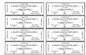 Raffle Ticket Template Publisher Avery Event Ticket Templates