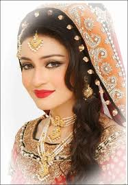 latest bridal makeup and hairstyle indian sudani stani