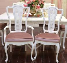 white and pink velvet french provincial dining room chairs furniture ideas