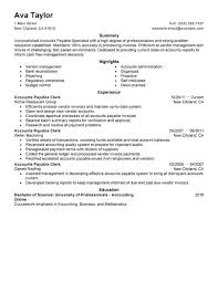 Accounts Payable Resume Objective Accounts Payable Resume Objective Receivable Clerk Sample