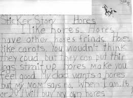john abuzz sticker story essay by a rd grader please tell your children that spelling is important even for third graders