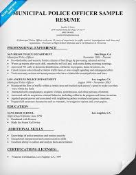 Resume For Police Officer Police Officer Resume Work Sample Resume Police Officer Resume