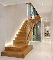 interior stairway lighting. Interior Stair Lighting Ideas With Modern Wooden Stairs Design Marble Decorating Stairway