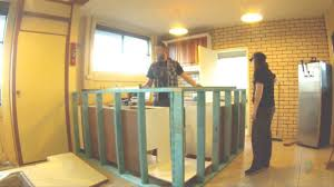 how to build a bar man cave bar design time laps frame work part 1 you