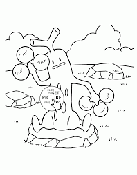 Pokemon Sudowoodo Coloring Pages For Kids