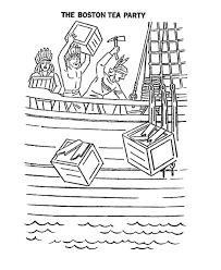 Small Picture USA Printables Coloring Pages of the Boston Tea Party America