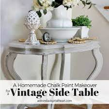 a homemade chalk paint makeover for a