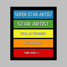 Behavior Color Chart For Art Room By The Organized Art Room