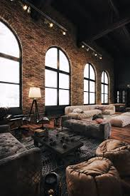 lighting for lofts. Amazing Loft Space* Those Sofas + Rugs* Lighting Brick* Cozy Meets Industrial* For Lofts H