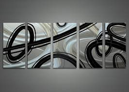 black wall art metal