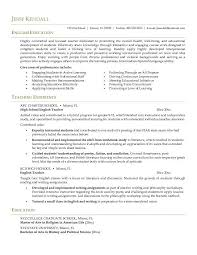 Example English Teacher Resume CV style