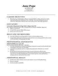 entry level objectives