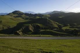 Hilly landscape of the Seaward Kaikoura Range, Canterbury, South Island,  New Zealand